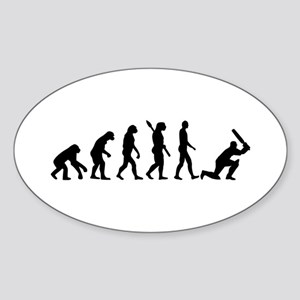 Evolution Cricket Sticker (Oval)